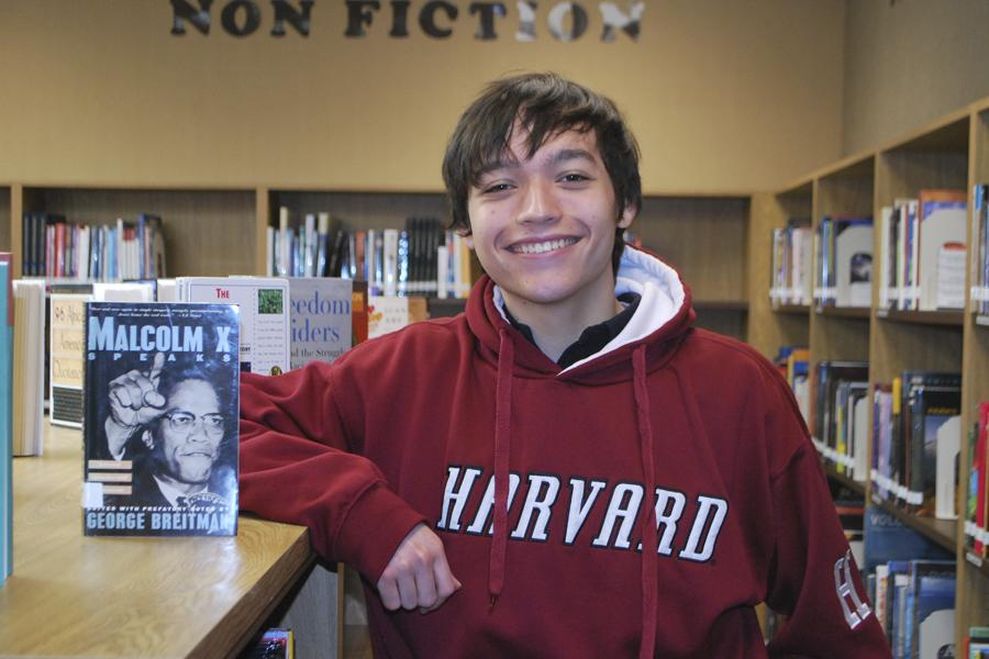 ACCEPTED: Seth Villanueva, only the second student at SJHHS ever admitted, is the first to attend Harvard and plans to begin the dual MBA program with history and business.  Photo by Chetana Piravi.