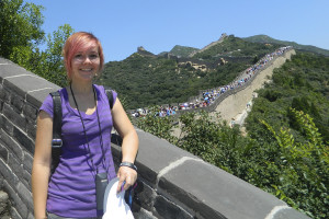 Devona Drewes poses along the Great Wall during her exchange trip to China last summer of 2013.