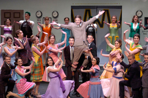 How to Succeed in Business Without Really Trying headlines the annual spring musical running until Saturday, April 26.