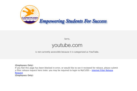 Since YouTube was invented in 2005 CUSD has blocked it. However in mid October they will allow tiered access to all school sites.