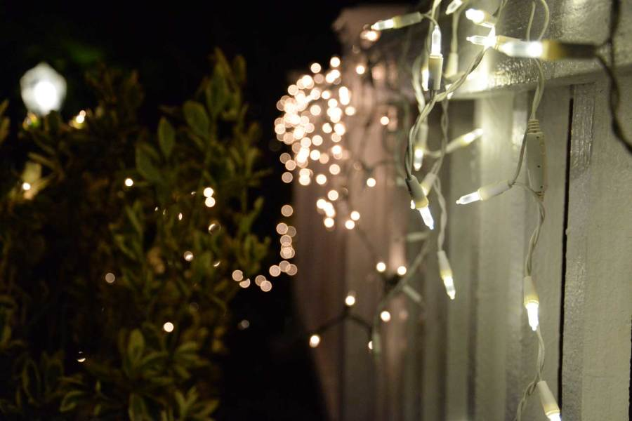 A BRIGHT CHRISTMAS: The negligence of prematurely putting up Chritmas lights and failing to take them down before it is February is a present and an engaging epidemic.