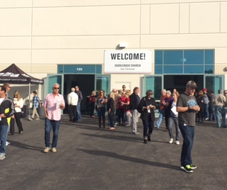 Saddleback San Clemente patrons are exiting from a Sunday service. This building is where The Curtain Call will be held on January 9 at 6:30.