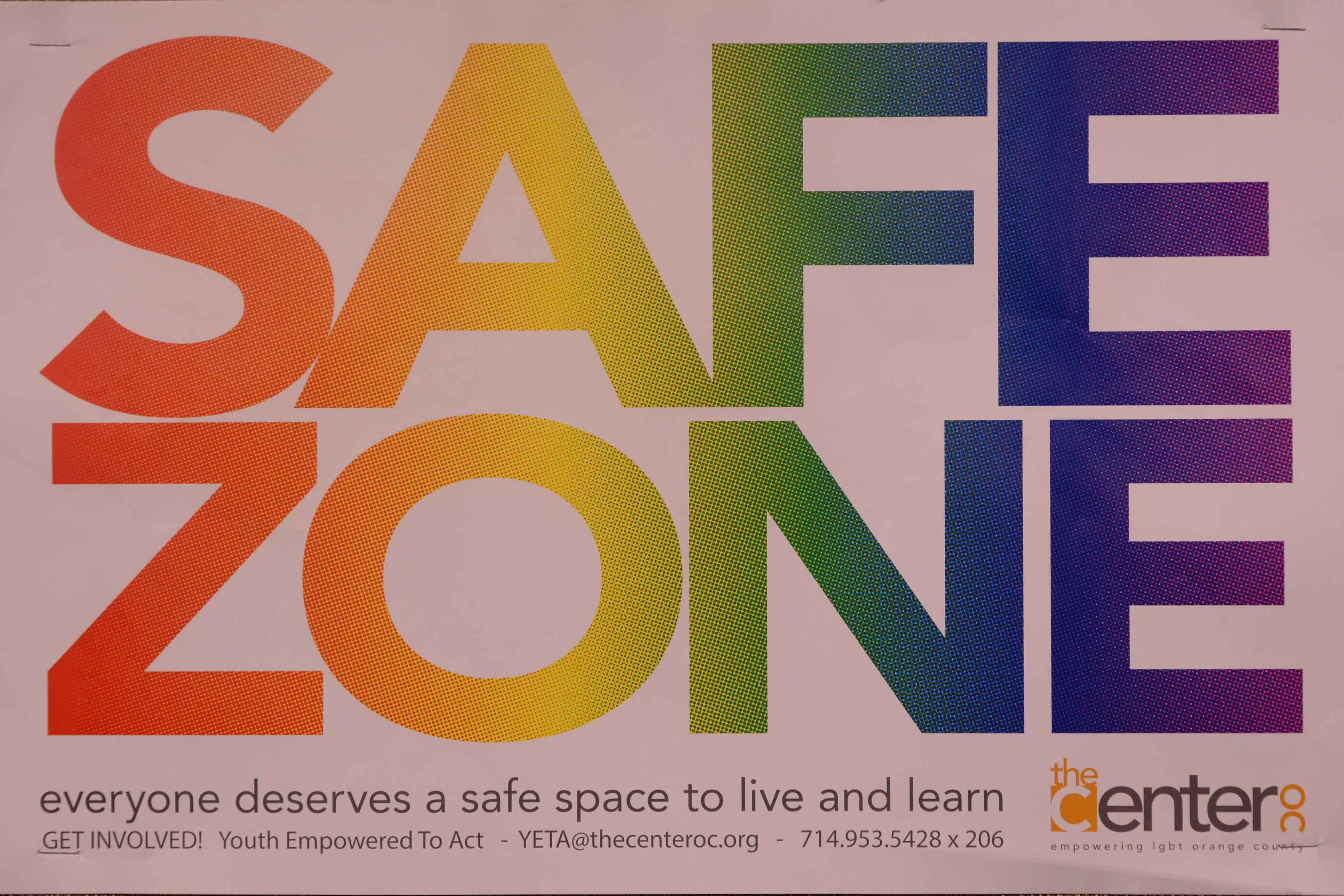 SJHHS has a plethora of these posters plastered on classroom windows, illustrating to all students that they have a safe place at school and with their teachers.