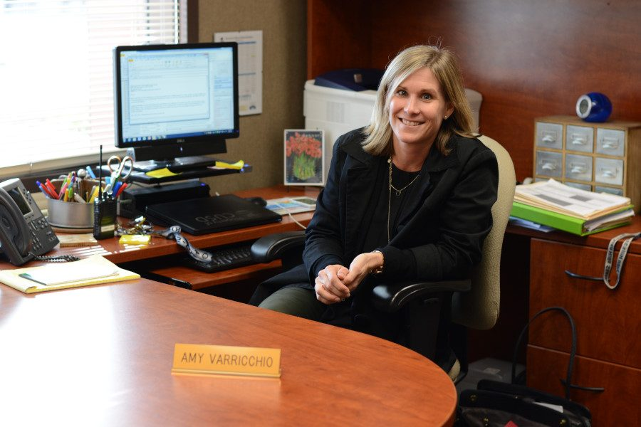 Amy Varricchio replaces Charles Salter as Assistant Principal of Discipline. Formerly an AP chemistry teacher for 12 years, Varricchio comes to SJHHS from the district office.