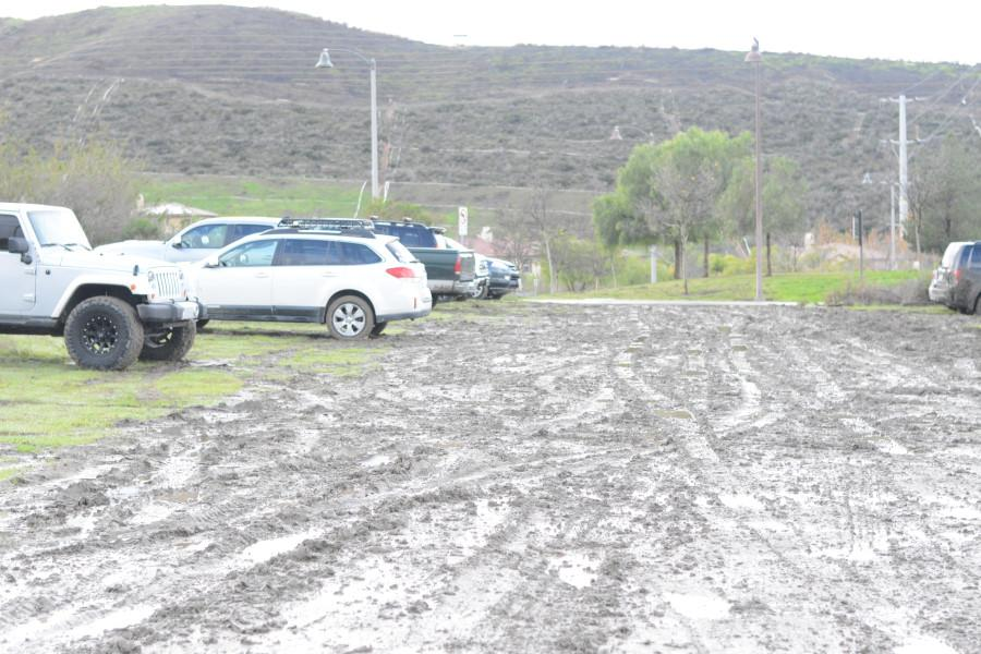 Because of recent rain storms conditions at the dirt lot have become  increasingly worse. Students without four-wheel drive have become stuck and even some with it. The area is owned by the LDS Church and parking there is not under SJHHS's ability to regulate, according to Darrin Jindra.