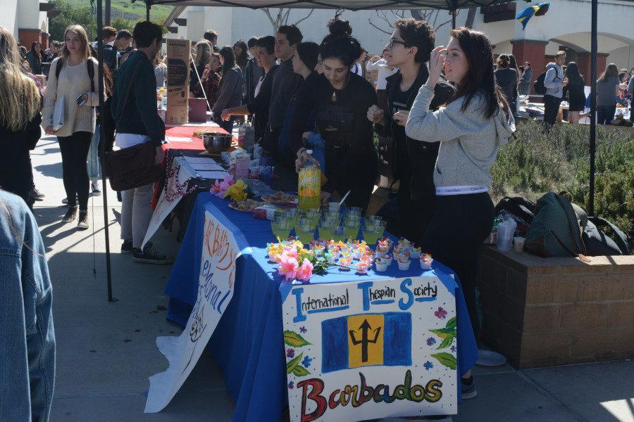 International Thespian Society represented the the country of Barbados, decorating their booth with tropical flowers and food.
