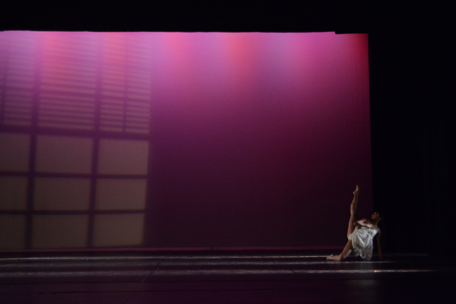 Sophomore Marydith Macabale performs a self-choreographed contemporary solo.
