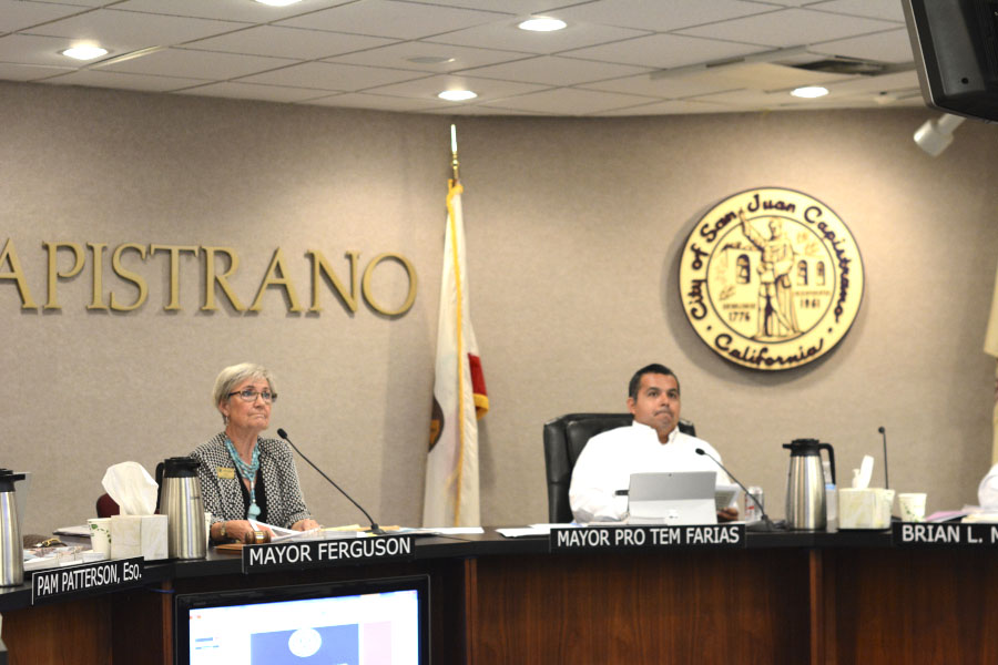 The City Council of San Juan Capistrano meet to discuss among other topics, the SJHHS fire trail.