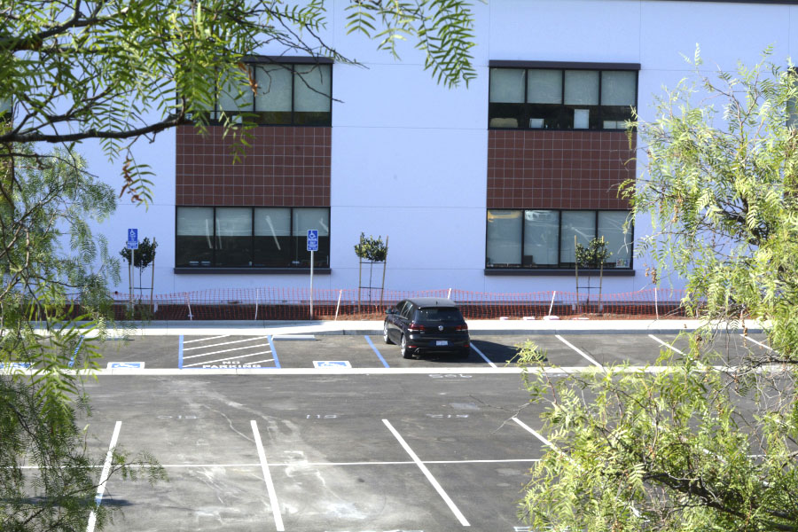 The J Building parking lot is a new addition to SJHHS campus. After last year's lack of parking, more spots are available this school year for the junior class.