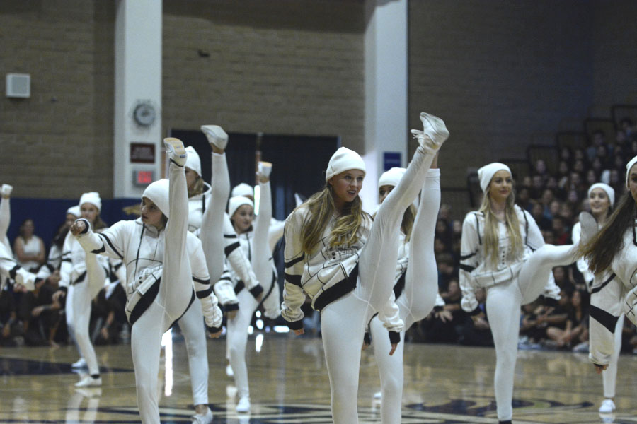 Intermediate Dance played the part of the infamous storm troopers in this year's Homecoming Pep-Rally.
