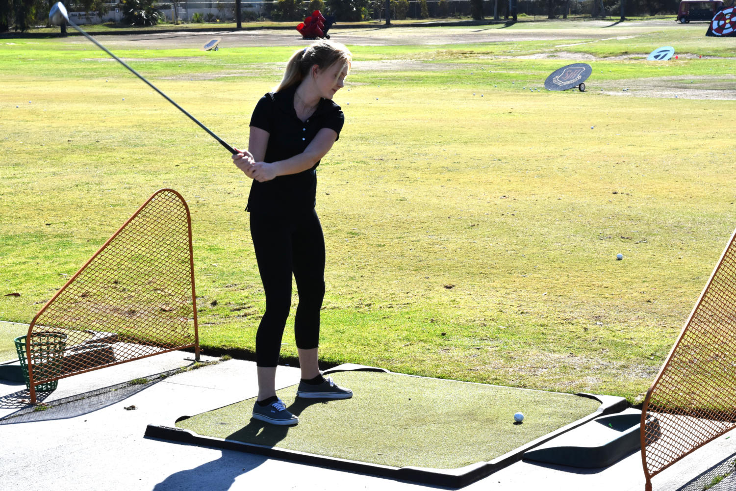 The girls practiced four to five days a week during their season at the golf range off campus. They play at the San Juan Golf Club.
