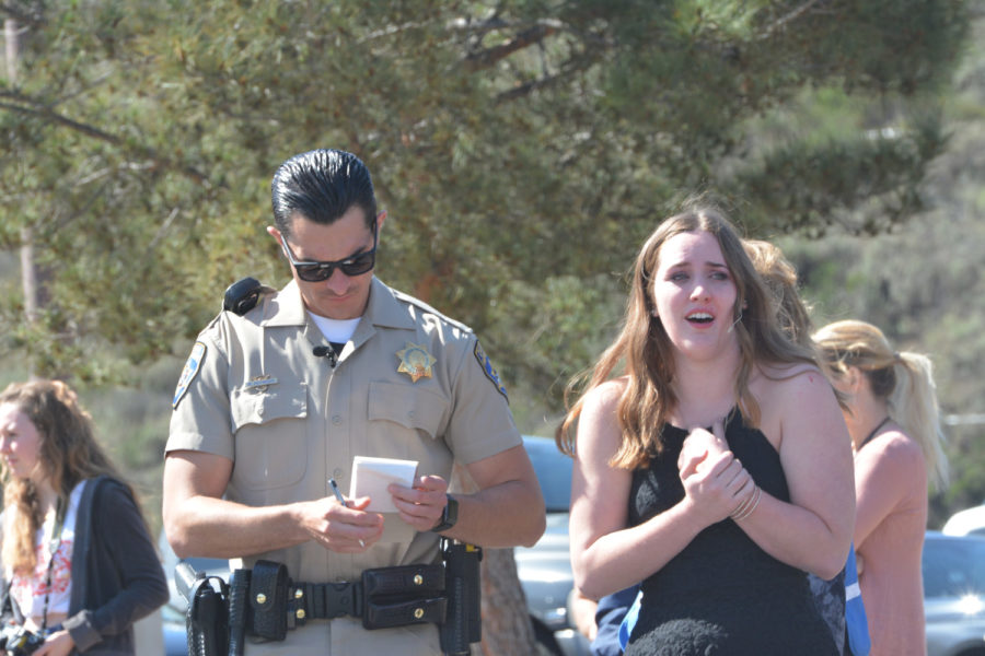 Jacky Miller (12) undergoes a sobriety test after causing a collision while under the influence of alcohol. She later is arrested for vehicular manslaughter and received a DUI.