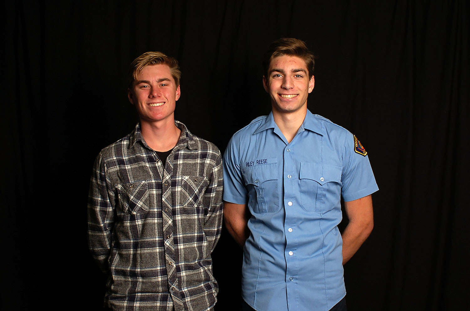 Gavin Fleugge (11) and Riley Reese (12) are both expanding their knowledge and skill level in the field of firefighting to help them reach their dream career, being a firefighter.