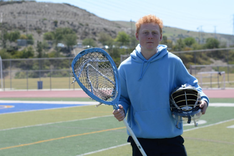 Graham Knapp, goalie for SJHHS lacrosse team, has been recognized for his aptitude for the sport.