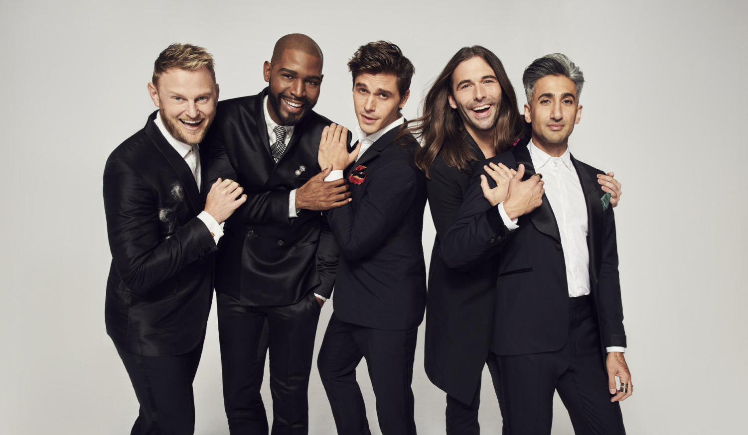 Left to Right: Bobby Berk, Karamo Brown, Antoni Porowski, Jonathan VanNess and Tan France.
