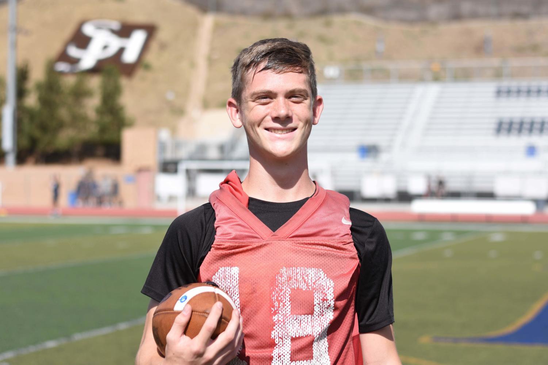 Hudson Jones (10), starts as quarterback at the Homecoming football game.