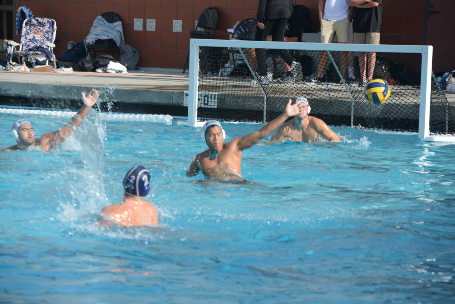 Ben Bandettini, 2, scores a goal against Aliso Niguel, contributing to the final score 12-10, where SJHHS lost.