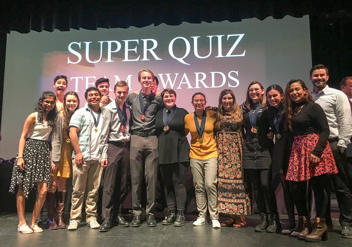 The Academic Decathlon team won first place in the Super Quiz category, the culminating event of Academic Decathlon, and 2nd place overall in their division. The team beat all of the schools in their district and also won 30 individual metals.