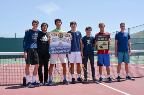 Boys Tennis Rallies to Win CIF