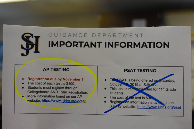 AP Test Registration Moved Earlier to Benefit Students