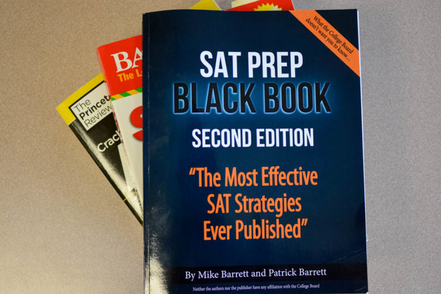 SAT prep books claim to improve test scores, but the reality of improvement of scores relies on the money people invest in SAT classes and tutors. These are just a few of the many books that students use to prepare for the SAT and other standardized tests.