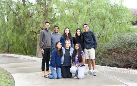 Back row (from left): Kayden Karti, Namiah Miller, Nadine Tong, Mina Mahmoodzadeh, and Aaron Hernandez. Front row (from left): Araceli Carreon, Lexie Guzik, and Varshitha Selvarajan Uma.