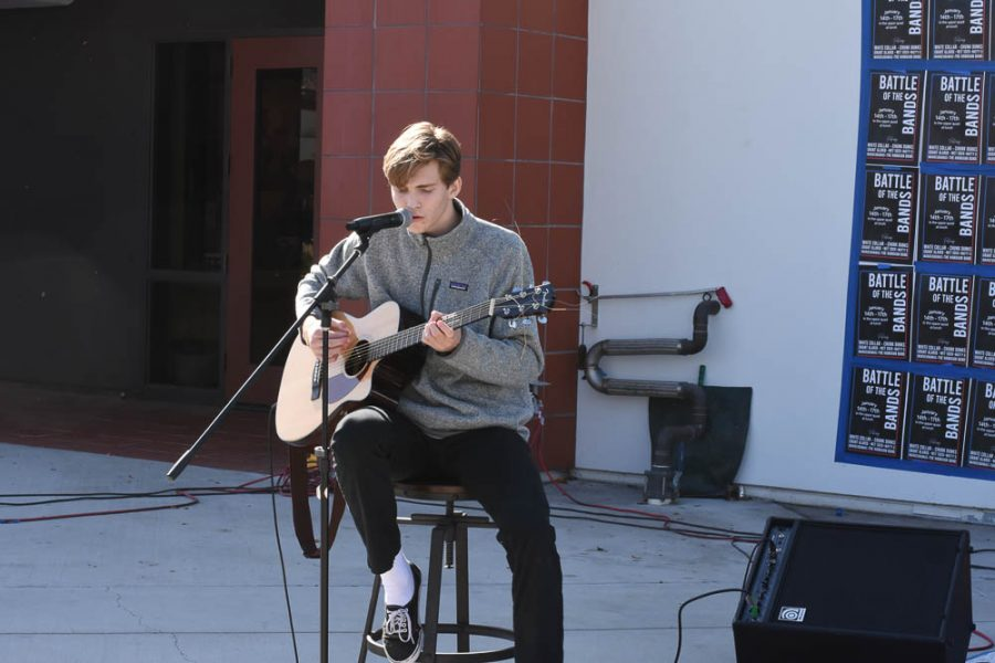 """Day 2 Grant Alarid: Grant Alarid (12) was the only solo performer who did not rap for his performance. Alarid impressed the crowd with his amazing guitar skills by covering """"In Your Atmosphere"""" and """"Daughters"""" by John Mayer."""