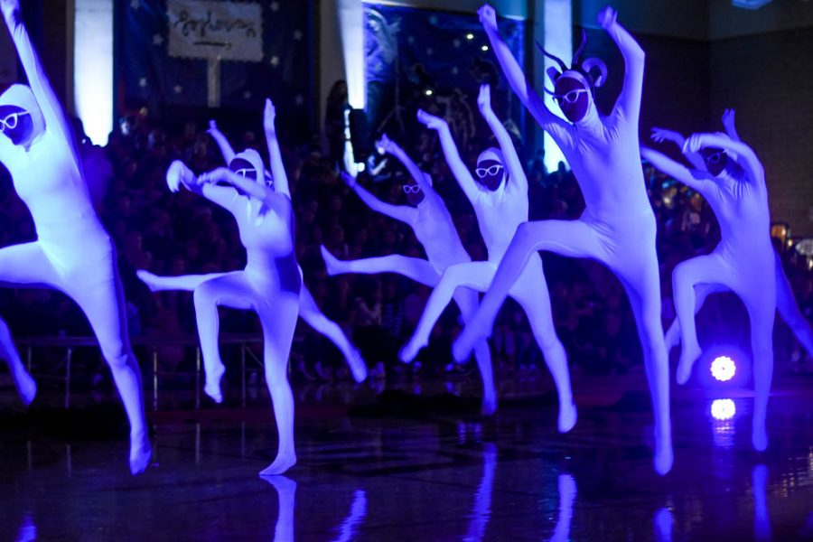 Dance production performs a routine choreographed surrounding the costume Lady Gaga once wore to the Grammys.