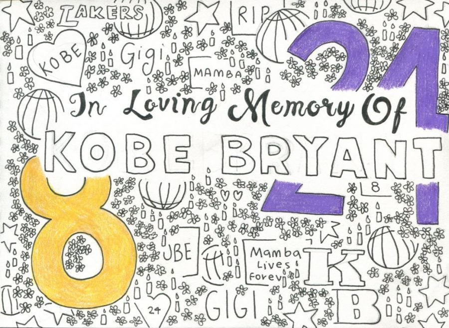 Numbers+8+and+24+were+Kobe%27s+basketball+playing+numbers.+Out+of+tribute+to+him%2C+they+have+been+retired+and+may+no+longer+be+used+by+basketball+players+in+the+NBA.+