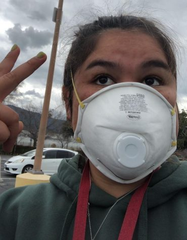 SJHHS alumni and current college sophomore Olivia Fu wears a mask soon after learning she contracted COVID-19. Due to a misleading label on her test results, she thought she had tested negative for the virus for three days before being informed that she was in fact positive.