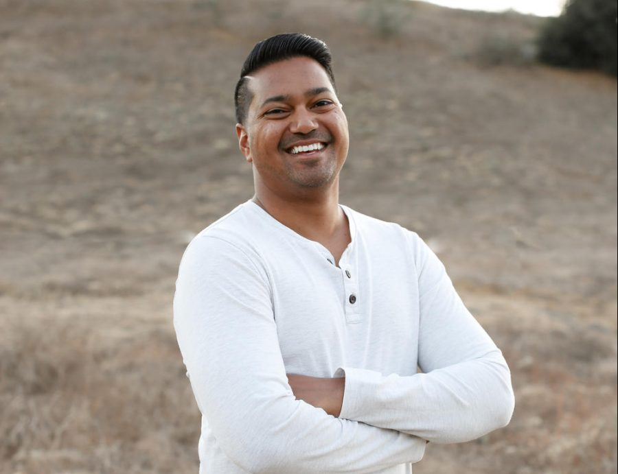 Effective July 1st, Dr. Manoj Mahindrakar will become the principal of SJH. Mahindrakar has worked in CUSD for 12 years in many different positions, including being a middle school principal. Mahindrakar smiles as he poses for a picture taken in the hills
