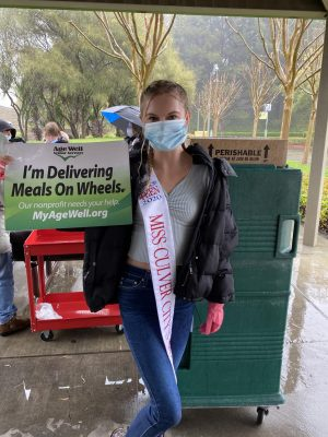 Hailey Flowers (11) has been giving back to her community during the COVID-19 pandemic through the organization Meals On Wheels. She delivers meals to home bound senior citizens. Unfortunately, many of her future pageant and community service events have been cancelled due to COVID-19.