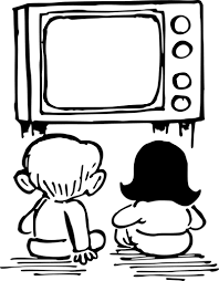 Kids sit by a TV screen to watch a movie. Majority of people find themselves doing the same thing due to the lockdown on account of COVID-19.