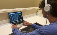Junior Matthew Goldbaum creates background music for the episodes of the recently canceled ASB video series