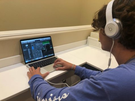 "Junior Matthew Goldbaum creates background music for the episodes of the recently canceled ASB video series ""SJH Rigs"". In the episodes, staff members would give a tour of their online teaching setup."