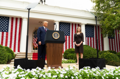 President Trump nominates Amy Coney Barrett as next Supreme Court Justice in the Rose Garden of the White House on September 26, 2020.