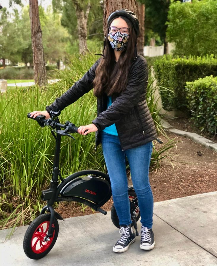 Example of a Student using an E-Bike