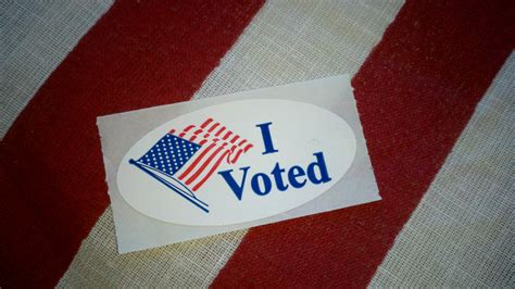 "The ""I Voted"" sticker is symbolic of the US election and with election day tomorrow we should expect to see many people showing off their sticker."