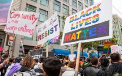 This image from San Francisco Pride shows many of those severely affected by the impact of the policies of the Trump Administration, such as queer people and BIPOC people.