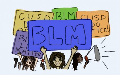 The student group CUSDAgainstRacism, made the subject of BLM posters on campus a prominent part of the public comment portion of the last board meeting.