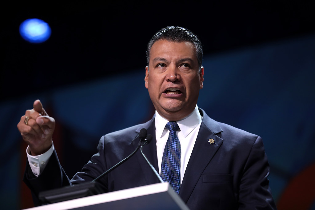 New California Senator, Alex Padilla, speaks at the 2019 California Democratic Party State Convention.