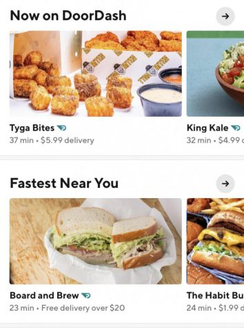 Doordash's home page, where you can order the food of your dreams.