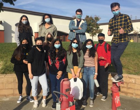 This image shows the Academic Decathlon team following their scrimmage in November 2020. The team then went on to compete in the Orange County competition, doing so well in it that they were invited to state.