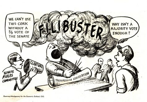 The senate filibuster, as depicted in the comic, has consistently been used by politicians as a way to counter progressive legislation even if their own party doesn