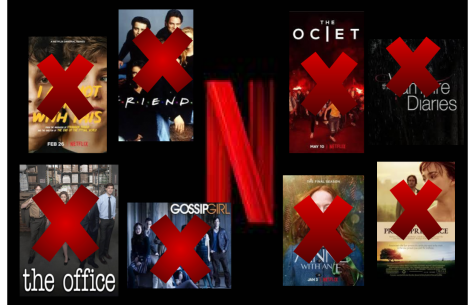 "Some of the most beloved shows on Netflix, including The Office and Friends are marked with an ""x"" to signify its cancellation from the platform. Following 2018 Netflix has continued to discontinue popular movies and shows, only to increase the subscription cost."