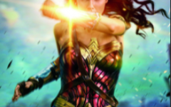 This image shows Wonder Woman in a promotion for the first film of the Wonder Woman franchise. In the second movie, the villain opposite of her falls into many stereotypes female villains are subject to today.