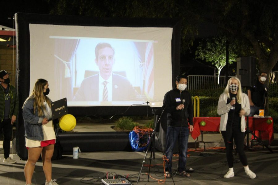 Because Representative Mike Levin was in Washington DC and could not attend, he filmed a virtual statement for the festival condemning anti-Asian attacks in the community.