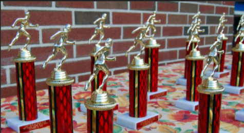 This image depicts trophies that are often a physical representation of attendance achievements. These create an exclusive nature around perfect attendance, causing a toxic school culture going into high school and beyond.