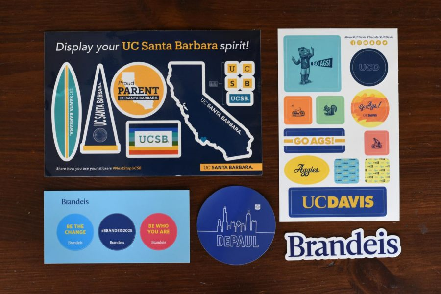 Colleges+have+greatly+increased+their+recruiting+efforts+by+constantly+mailing+prospective+applicants+letters+and+stickers+encouraging+them+to+apply.+
