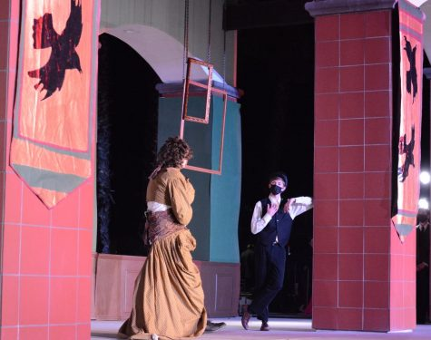 The theatre department had both mask-wearing during the play and an outdoor performance as a way to hold the production while at the same time remaining safe.